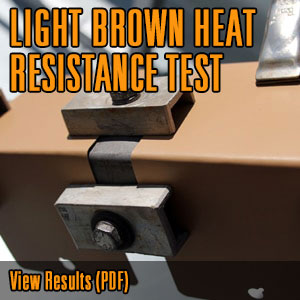 LIGHT BROWN HEAT RESISTANCE TEST @CerakoteFinish #Cerakote
