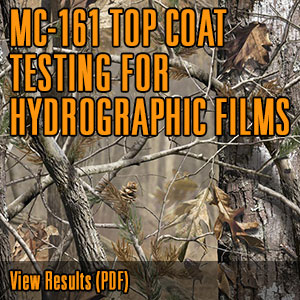 MC-161 TOP COAT TESTING FOR HYDROGRAPHIC FILMS @CerakoteFinish #Cerakote